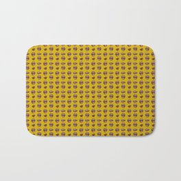 Loose Lips (on Amber Yellow Background) Bath Mat