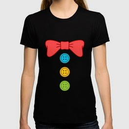 Clown Bow Tie Buttons T-shirt