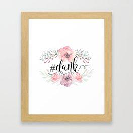 #dank spring flowers Framed Art Print