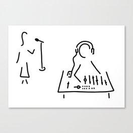 sound engineer studio admission mixing writing desk Canvas Print