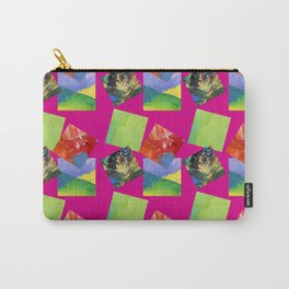 Painted Squares Jiggle - Pink Carry-All Pouch