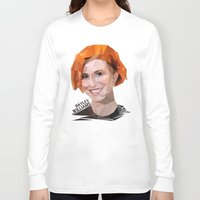 hayley williams Long Sleeve T-shirts featuring Low Poly Design Hayley Williams by kertasputih