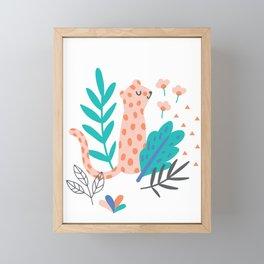 Little Leopard Framed Mini Art Print