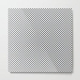Dark Shadow Polka Dots Metal Print