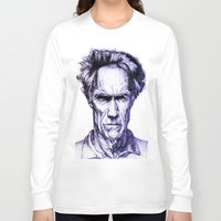 clint eastwood Long Sleeve T-shirts featuring Clint Eastwood by Bronsolo