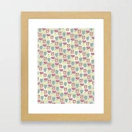 Sloth pattern Framed Art Print