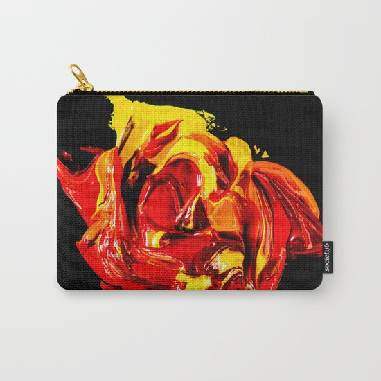yellow-red on black Carry-All Pouch