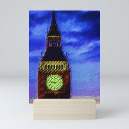 Big Ben Clock Tower, London, England Portrait - Jéanpaul Ferro Mini Art Print