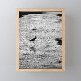 Bird Beach Moment After Sunset Framed Mini Art Print