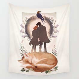 Fable of Mulder and Scully Wall Tapestry