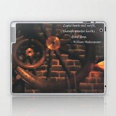 Shakespeare Ship Quote Laptop & iPad Skin