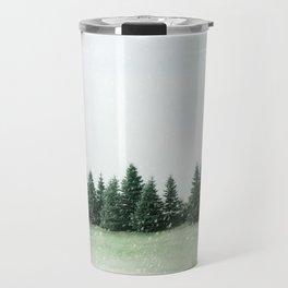 Pine Line Snow Travel Mug