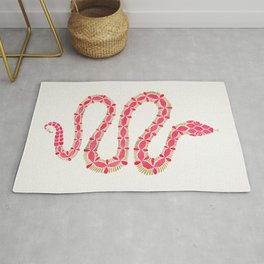Pink & Gold Serpent Rug