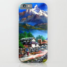 Panoramic View Of Everest Mountain iPhone Case
