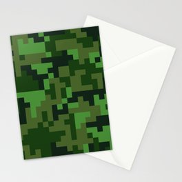 Green Jungle Army Camo pattern Stationery Cards