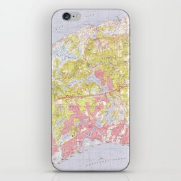 Dennis and Yarmouth Massachusetts Map (1974) iPhone Skin