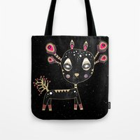 fawn Tote Bags featuring Fawn by Elisabeth Fredriksson