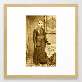 Dark Victorian Portrait Series: The Hierophant Framed Art Print