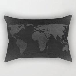 Retro world map Rectangular Pillow