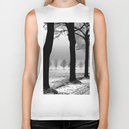 Snowy Day in the Country Biker Tank