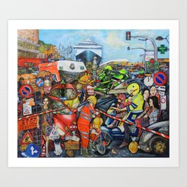 Il traffico di Palermo Art Print