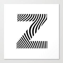 Z is for Zebra Canvas Print