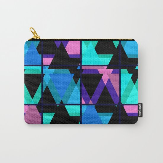 Colorful triangles . No. 1 Carry-All Pouch