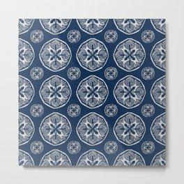 Shibori Cutlings Metal Print