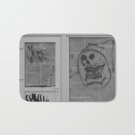 Death's newspaper booth Bath Mat