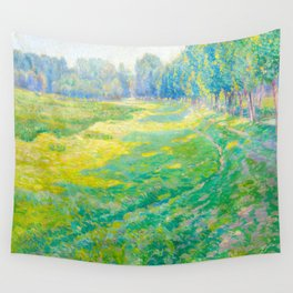 Václav Radimský (1867-1946) On the Dike Colorful Impressionist Landscape Oil Painting Wall Tapestry