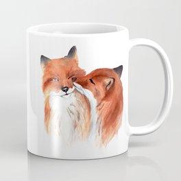Cute foxes in love. Watercolor. Coffee Mug