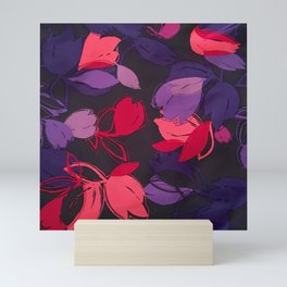 Satin Florals 1 Mini Art Print