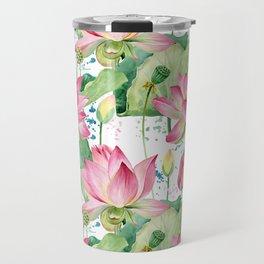 lotus flowers Travel Mug