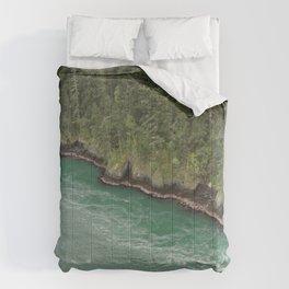 Water Meets Woods Comforters
