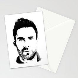 Adam Levine (silhouette) Stationery Cards