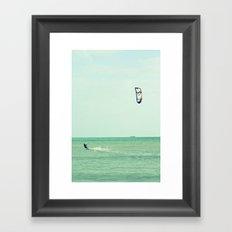 the kiter II Framed Art Print