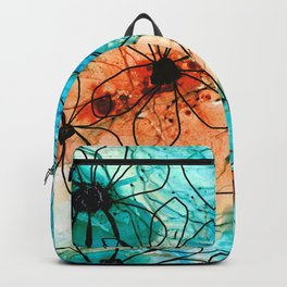Modern Floral Art - Wild Flowers 2 - Sharon Cummings Backpack