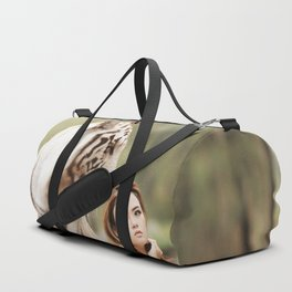 White Tiger from Bengal | Tigre blanc du Bengale Duffle Bag