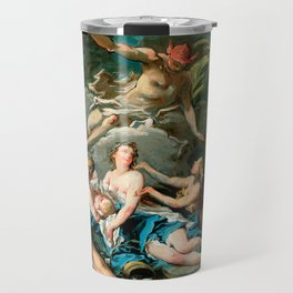 """Franҫois Boucher """"Mercury Entrusting the Infant Bacchus to the Nymphs of Nysa"""" Travel Mug"""