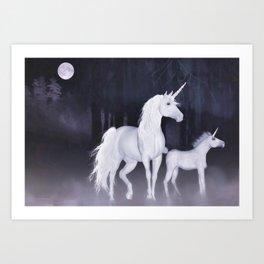 FANTASY - Unicorns Art Print