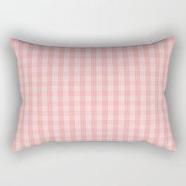 Large Lush Blush Pink Gingham Check Plaid Rectangular Pillow