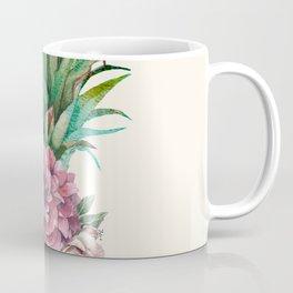 Floral Pineapple Coffee Mug