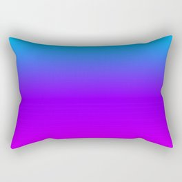 Blue/Pink Gradient Rectangular Pillow