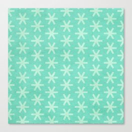 Asterisk Small - Turquoise Canvas Print