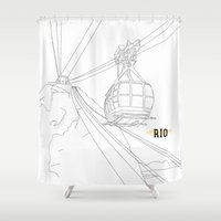 rio Shower Curtains featuring RIO by ThiagoKoi