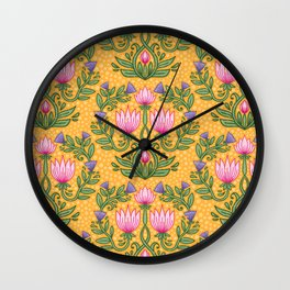 Boho Botanicals Wall Clock