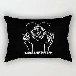 Black Labs Matter Labrador Retriever Dog Owner Rectangular Pillow
