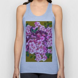 PURPLE-PINK PHLOX FLOWERS AVOCADO ART Unisex Tank Top