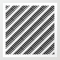 Black and White Tiger Stripes Art Print