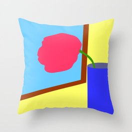 Tulip at the window Throw Pillow